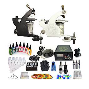 cheap Starter Tattoo Kits-BaseKey Professional Tattoo Kit Tattoo Machine - 2 pcs Tattoo Machines, Professional Aluminum Alloy 19 W 2 alloy machine liner & shader