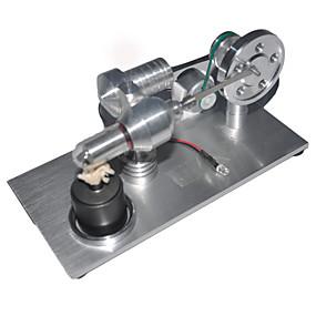 preiswerte Pädagogisches Spielzeug-LJKGDQ Stirling Motor Modell eines Maschinen-Motors Bildungsspielsachen Dampf Spielzeug LED Heimwerken Metal Aluminium Jungen Mädchen Spielzeuge Geschenk 1 pcs