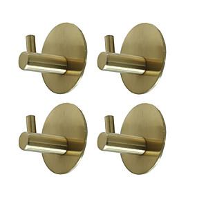 povoljno Komplet kupaonskih pribora-ljepljive okrugle kuke 4 komada izdržljive zidne vješalice od nehrđajućeg čelika 304, vodootporne otporne na hrđa ulje za kuhinju kupaonice vrata uredski ormar-crno srebrno zlatno 3m10-4y