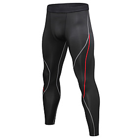 cheap Men's Activewear-YUERLIAN Men's Running Tights Leggings Compression Pants Athletic Base Layer Tights Leggings Patchwork Nylon Elastane Winter Fitness Gym Workout Running Breathable Quick Dry Moisture Wicking Sport
