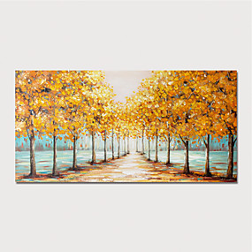 cheap Wall Art New Arrivals-Oil Painting Hand Painted - Abstract Landscape Modern Stretched Canvas