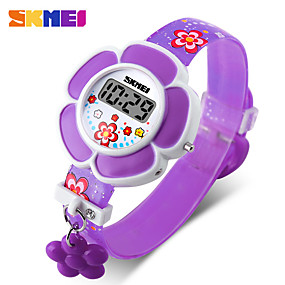 cheap Smart Watches-SKMEI Smartwatch Digital Modern Style Sporty Silicone 30 m Water Resistant / Waterproof Casual Watch Cool Digital Casual Fashion - Purple Red