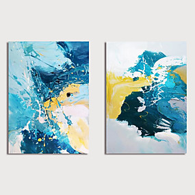 cheap Wall Art New Arrivals-Oil Painting Hand Painted - Abstract Modern Stretched Canvas