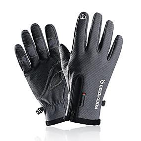 preiswerte Laufen-Laufsport Handschuhe / Winterhandschuhe Vollfinger Herrn / Damen warm halten / Touchscreen / Wasserdicht Laufen / Wandern / Fahrradlichter Polyester / Polyamid / Rutschfest
