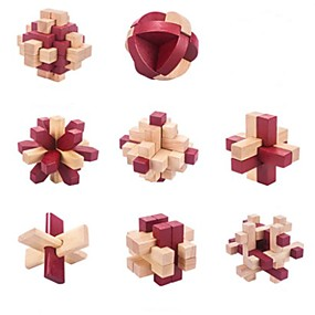 preiswerte Rätselspiele-Holzpuzzle Knobelspiele Kong Ming Geduldspiel Umweltfreundlich Intelligenztest Hölzern Klassisch Unisex Spielzeuge Geschenk