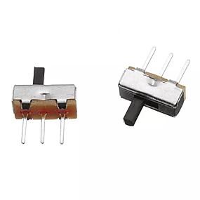 100pcs SS12D00G4 SPDT 1P2T 2 Position 3 Pin PCB Panel Vertical Slide Switch VQ