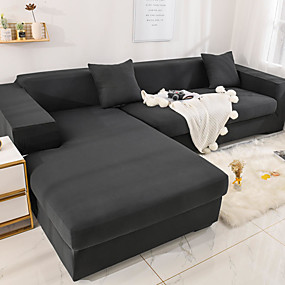 cheap Slipcovers-Sofa Cover Stretch Cheap Couch Cover 1 Piece Gray Soft Durable Slipcovers Spandex Jacquard Fabric Washable Furniture Protector Armchair Loveseat L-shape
