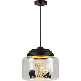 preiswerte Deckenlichter & Ventilatoren-nordic lampen restaurant pendelleuchte cafe bekleidungsgeschäft kreative karikatur tier kinderzimmer glas pendelleuchte