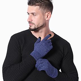 preiswerte Laufen-Laufsport Handschuhe / Winterhandschuhe Vollfinger Herrn / Damen warm halten / Touchscreen / Leicht Laufen / Wandern / Fahrradlichter Baumwolle / Polyester / Rutschfest