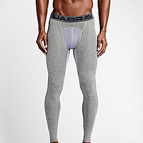 cheap Men's Activewear-UABRAV Men's Running Tights Leggings Compression Pants Athletic Leggings Winter Fitness Gym Workout Running Jogging Breathable Quick Dry Soft Sport Solid Color Black Gray / Stretchy / Athleisure