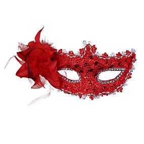 preiswerte Festival & Carnival Costumes-Venezianische Maske Maskenmaske Federmaske Inspiriert von Cosplay Golden Purpur Halloween Halloween Karneval Maskerade Erwachsene Damen Weiblich / Halbe Maske