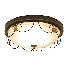 cheap Ceiling Lights & Fans-QIHengZhaoMing 4-Light 45 cm Flush Mount Lights Metal Glass Vintage 110-120V / 220-240V