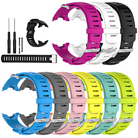 cheap Smartwatch Bands-Watch Band for SUUNTO D4 D4i NOVO Suunto Sport Band Silicone Wrist Strap  3 Strap And Connecting Rod