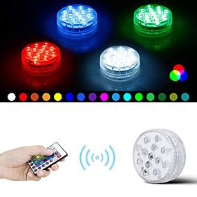 preiswerte Unterwasser Lampen-1 Satz wasserdichte RGB-LED-Lampe mit ferngesteuertem LED-Tauchlampen-Dekorationslicht für 8,5 cm-Fernbedienung mit 28 Schlüsseln