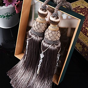 cheap Curtains & Drapes-curtain Accessories Tassel European Style 2 pcs