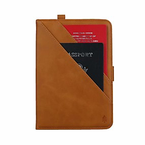 cheap iPad case-Case For Apple iPad Air / iPad Mini 3/2/1 / iPad Mini 4 Card Holder / with Stand / Flip Full Body Cases Solid Colored PU Leather