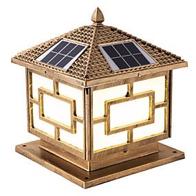 preiswerte Bahn Lichter-1pc 6 W Leuchte für Rasenplatz / LED-Straßenleuchte / Solar-Wandleuchte Wasserfest / Ferngesteuert / Solar Warmes Weiß + Weiß 3.7 V Außenbeleuchtung / Hof / Garten 1 LED-Perlen