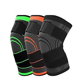 cheap Running, Jogging & Walking-Knee Brace Knee Sleeve 3D Weaving for Running Basketball Fitness Antiskid Moisture Wicking Compression Adjustable Men's Women's Silica Gel Nylon Lycra Spandex 1 pc Sports Practice Gym Black Orange