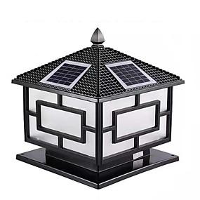 preiswerte Bahn Lichter-solar spalte kopf lampe led doppel farbe fernbedienung 30 cm dorf straßenlaterne garten villa tor säulenlampe außenhof wandleuchte 2 stücke