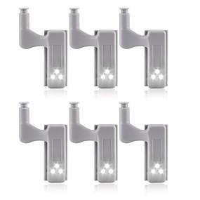 cheap LED Cabinet Lights-6pcs Universal LED Under Cabinet Lighting Cupboard Inner Hinge Lamp Closet Wardrobe Sensor Light Home Kitchen Night Light