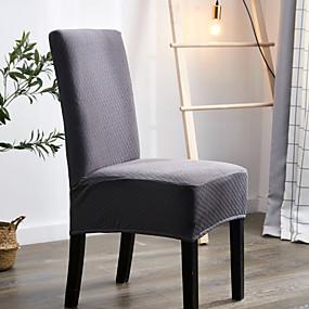 billige Overtrekk-vanntett stoldeksel solidfarget trykk polyester slipcovers enkel komfortabel myk stoldeksel