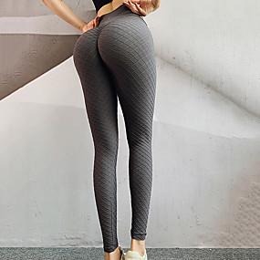 cheap Women-Women's High Waist Yoga Pants Seamless Criss Cross Waist Leggings Tummy Control Butt Lift Moisture Wicking Solid Color Pink Green Dark Blue Nylon Fitness Gym Workout Running Winter Sports Activewear