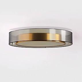 cheap Ceiling Lights & Fans-1-Light QIHengZhaoMing 60 cm Eye Protection Flush Mount Lights Metal Brass Modern 110-120V / 220-240V