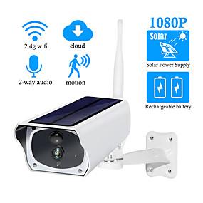 billige IP-kameraer-didseth 1080p hd solkamera wifi utendørs ip kamera lader batteri trådløst sikkerhetskamera pir bevegelsesdeteksjonskamera (med 3.7v 2 3200mah batteri)