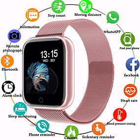 billige Smart Watches-Smartur Digital Luksus Vandafvisende Digital Rose Guld Sort / Sølv Sort / Sort / Silikone / Pulsmåler