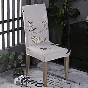 cheap Slipcovers-Cartoon Whale Chair Cover Stretch Removable Washable Dining Room Chair Protector Slipcovers Home Decor Dining Room Seat Cover