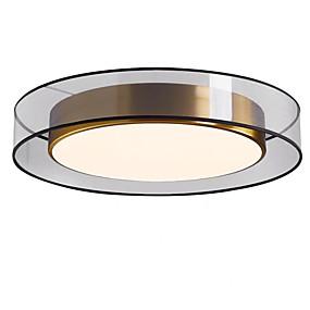 cheap Ceiling Lights & Fans-1-Light QIHengZhaoMing 50 cm Eye Protection Flush Mount Lights Metal Brass Modern 110-120V / 220-240V