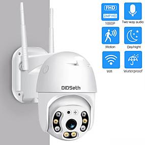 cheap IP Cameras-DIDseth HD 1080P 2 mp Wifi Mini PTZ IP Camera Outdoor Wireless CMOS Zoom Speed Dome CCTV Waterproof Night Vision Security Camera Onvif 2MP AI Two-Way Audio Home Surveillance Camera