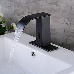 economico Rubinetti induzione-Lavandino rubinetto del bagno - Separato Galvanizzato Autoportante Una manopola Un foroBath Taps