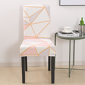 cheap Slipcovers-Geometric Triangle Chair Cover Stretch Removable Washable Dining Room Chair Protector Slipcovers Home Decor Dining Room Seat Cover