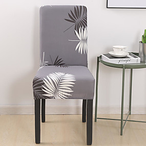 cheap Slipcovers-Leaves Chair Cover Stretch Removable Washable Dining Room Chair Protector Slipcovers Home Decor Dining Room Seat Cover