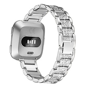 cheap Smartwatch Bands-Watch Band for Fitbit Versa / Fitbit Versa 2 Fitbit Jewelry Design Stainless Steel Wrist Strap Diamond Band Metal