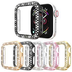 billige Telefoner og tilbehør-doble rader diamanturveske for epleurveske 38mm 42mm 40mm 44mm band pc skjermbeskyttelsesdeksel for iwatch series 5 4 3 2