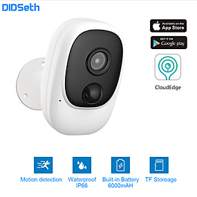cheap Indoor IP Network Cameras-DIDseth 1080P WiFi Camera Rechargeable Battery Powered IP Camera Full HD Outdoor Indoor IP66 Waterproof Wireless Security Camera