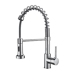 cheap COMMERCIAL-Kitchen faucet - Single Handle One Hole Electroplated Pull-out / ­Pull-down Free Standing Contemporary Kitchen Taps