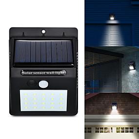 billige Solenergiforsyninger-ledet solenergi pir bevegelsesføler vegglys 20 ledet utendørs vanntett energisparende gatehage sti hjem hage sikkerhetslampe