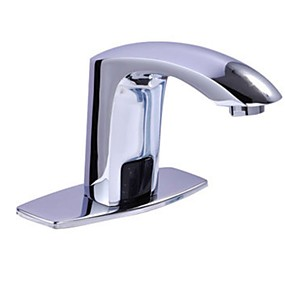 tanie Baterie indukcyjne-Bateria do umywalki łazienkowej - Szeroko rozstawiona Galwanizowany Umieszczona centralnie Jeden uchwyt Jeden otwórBath Taps