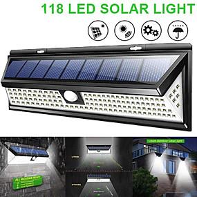 billige Solenergiforsyninger-waza solcellelampe 118 ledet pir bevegelsesføler lampe utendørs ip65 vanntett solhagelys nødssikkerhetslys solveggen lampe