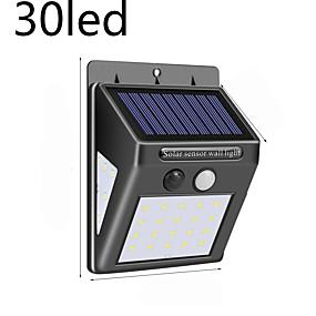 billige Solenergiforsyninger-30 ledet solenergilampe pir bevegelsessensor 1/2 / 4stk solgartnerelys utendørs vanntett energisparende veggsikkerhetslampe