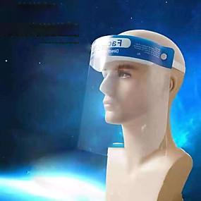 billige Personlig beskyttelse-diy vanlig anti-splash ansiktshatt beskyttende ansiktsark arbeid beskyttende støvbeskyttelsesbriller pc råvarer gjennomsiktig sikkerhetshjelm