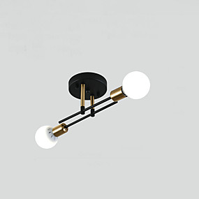 cheap Ceiling Lights & Fans-2-Light Nordic Creative Personality Balcony Ceiling Light American Staircase Corridor Porch LIght Simple Modern Ceiling Light