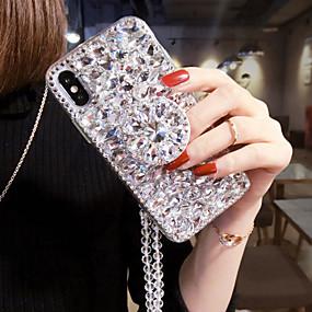 billige Telefoner og tilbehør-etui til iphone 11pro max luksustelefonetui for iphone xs maks fullt diamantstativetui for iphone 6/7 / 8p beskyttelsesskall