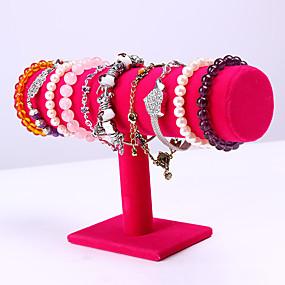 cheap Accessories-Round Jewelry Displays - Wooden Pink 23.6 cm 7 cm 14 cm / Women's