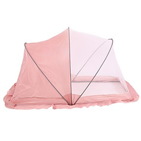 cheap Mosquito Nets-Baby Infant Bedding Crib Netting Portable Foldable Baby Mosquito Nets Bed Mattress Pillow Mosquito Net Tent Baby Infant Bed Dot Zipper Crib Sleeping Cushion collapsible portable