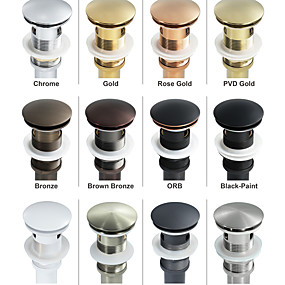 cheap Faucets/Shower System/Kitchen Tap-Faucet accessory - Superior Quality Pop-up Water Drain With Overflow Contemporary Brass others