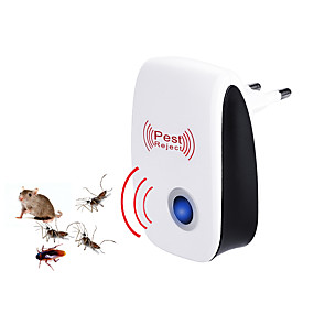 cheap Home Security System-1PC Ultrasonic Plug in Pest Repeller for Flea, Insects, Mosquitoes, Mice, Spiders, Ants, Rats, Roaches, Bugs, Non-Toxic, Humans & Pets Safe With Europe Plug